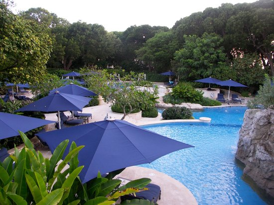 Sandy Lane Hotel: Pool View From Above the Spa