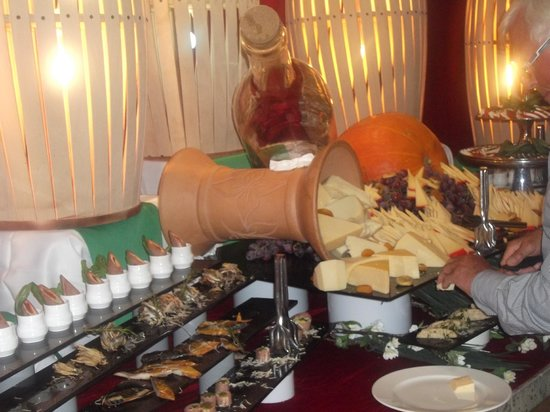 Crystal Palace Luxury Resort & Spa: Viele Sorten Käse
