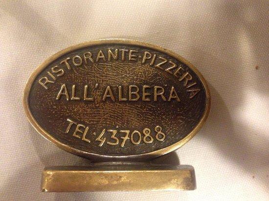 Ristorante Pizzeria All'Albera : Telefono