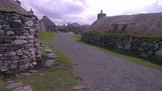 Lewis and Harris, UK: reconstructed blackhouses, west coast of Lewis