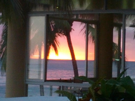 Viva Wyndham Dominicus Beach: tramonto dal ristorante