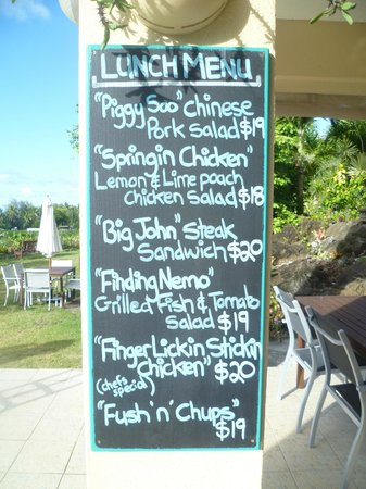 Tuoro Restaurant & Cafe : lunch menu which changes regularly...