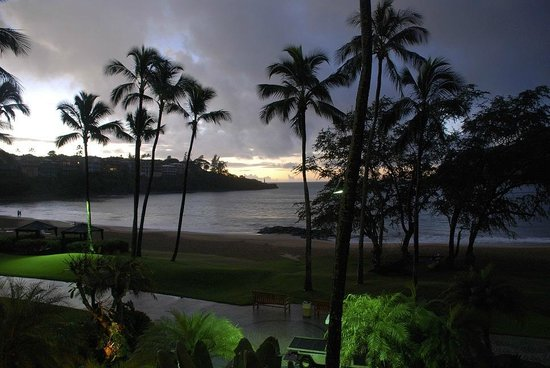 Kaua'i Marriott Resort : Sunset from room