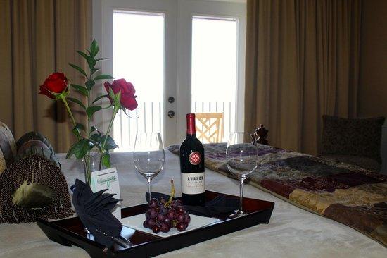 Henderson Park Inn: Welcome wine.