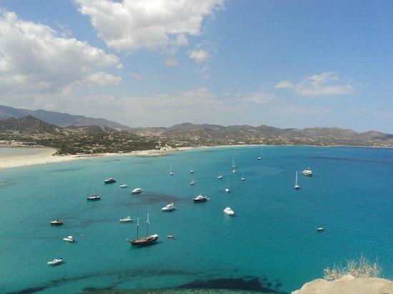 Porto Giunco : Timi Ama vista dalla torre del Giunco