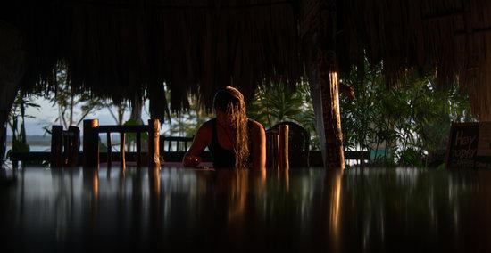 Hotel Mon Ami: Mientras tanto en el restaurante.