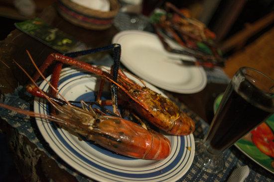 Hotel Mon Ami: Menú especial, Piguas (cámarones gigantes de rio).