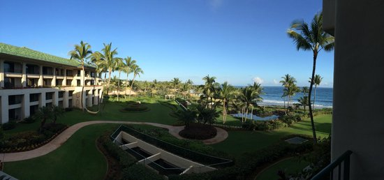 Grand Hyatt Kauai Resort & Spa: hotel grounds view from room 5018