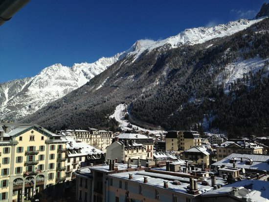 Hotel Mont-Blanc: view from our balcony