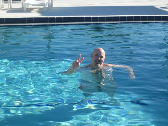 Sunshine Motel: Me Enjoying The Heated Swimming Pool In February