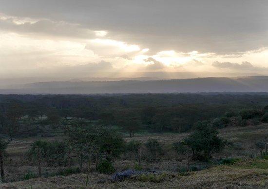 Lake Nakuru Lodge: Trilight view from the room