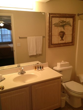 Suites at Fall Creek: The bathroom