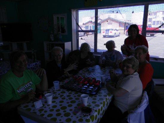 Sea Isle Village: Birthday fun with winter Texans.