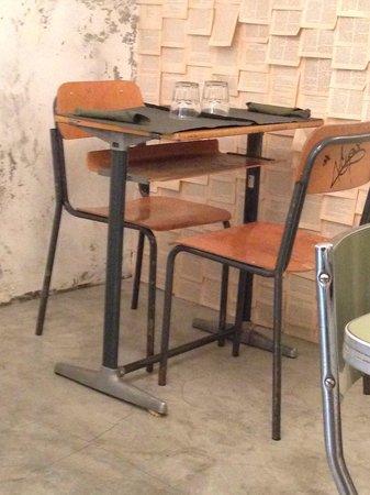 tavolo banco di scuola - Foto di Garbassu, Varazze - TripAdvisor
