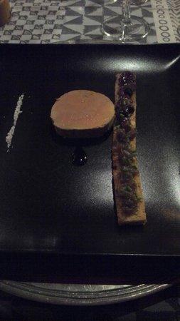 Restaurant le Moréote : Foie gras avec chutney de figues et d'échalotes un régal