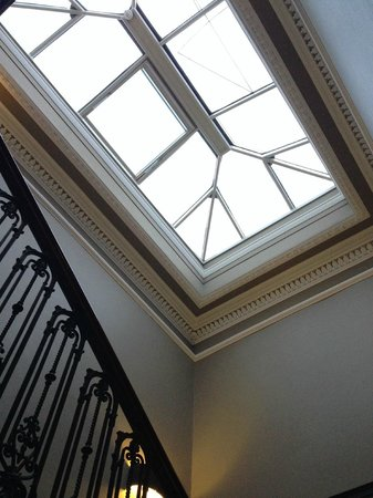 The Chester Residence: Top of the staircase, Georgian skylight