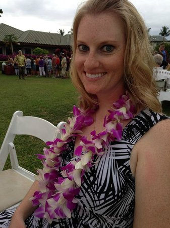 Waikoloa Beach Marriott Sunset Luau: the lei you get if you pay extra