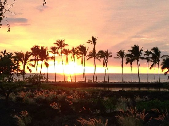 Waikoloa Beach Marriott Sunset Luau: sunset!
