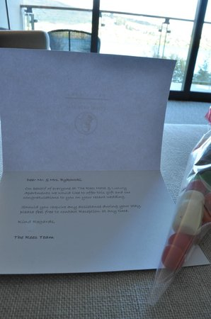 The Rees Hotel & Luxury Apartments: Our welcome note from the hotel