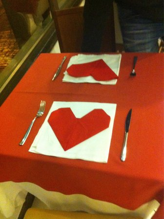 db Seabank Resort + Spa: Valentines day table