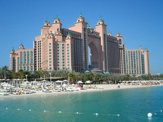 Atlantis, The Palm : view from jetty