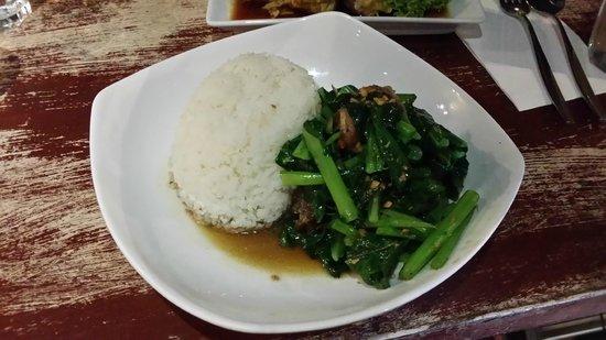 Home Thai Restaurant: Crispy pork belly with Chinese broccoli