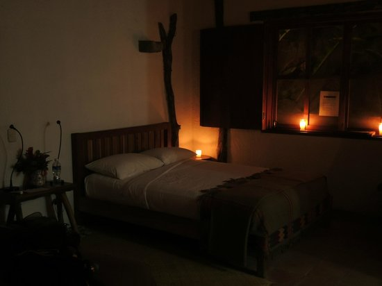 Hacienda San Lucas: Returning to our room at night.  Who wouldn't be charmed by this?