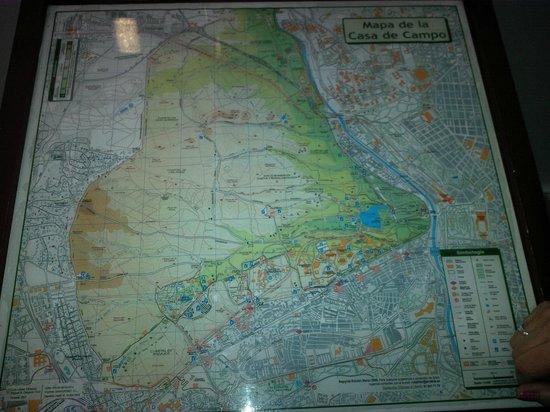 Teleferico: Map of the casa de campo