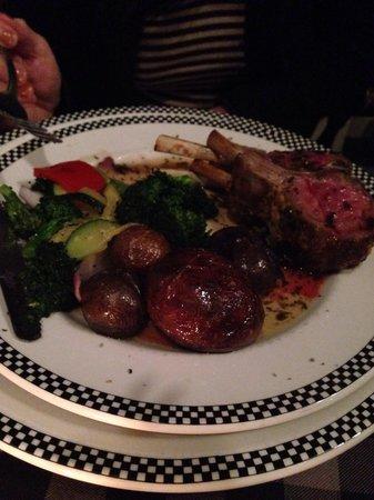 The Mill Restaurant: Rack of lamb