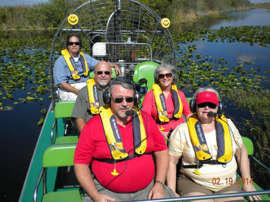 Florida Airboat Excursions: Captain John and Mike on our air boat tour