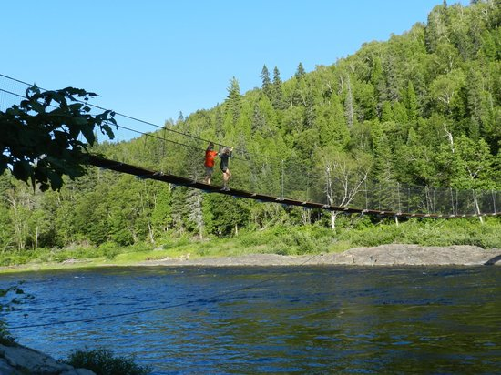 Saguenay Fjord National Park : Small suspension bridge - the kids loved this!
