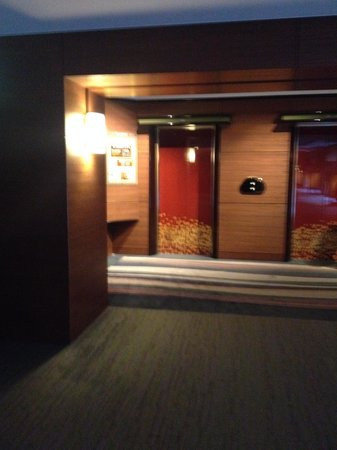 Kyoto Tokyu Hotel: 客室へのエレベーターは蒔絵調です