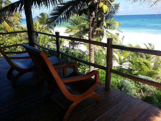 Encantada Tulum: Porch view at Estrella