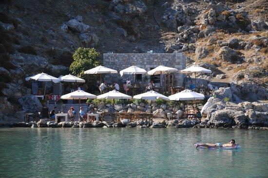 Agios Pavlos Beach (Saint Paul): restaurante