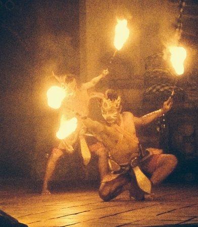 Fire dance, bali zoo night safari