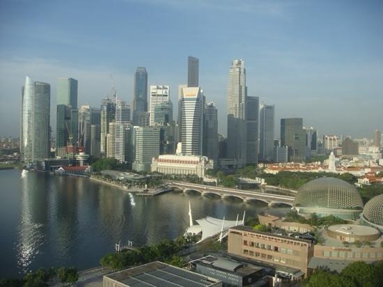Mandarin Oriental, Singapore: Blick aus dem Zimmer