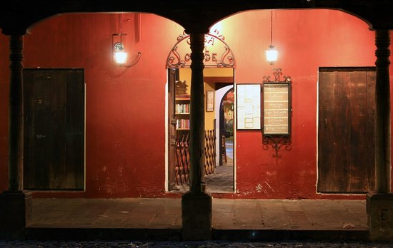 Cafe Condesa: from the street at night
