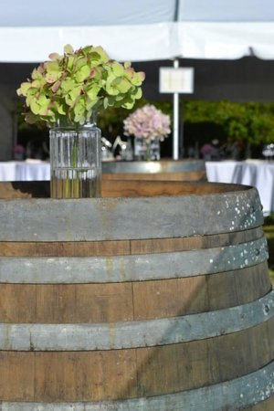 Ridge House: Wine barrels