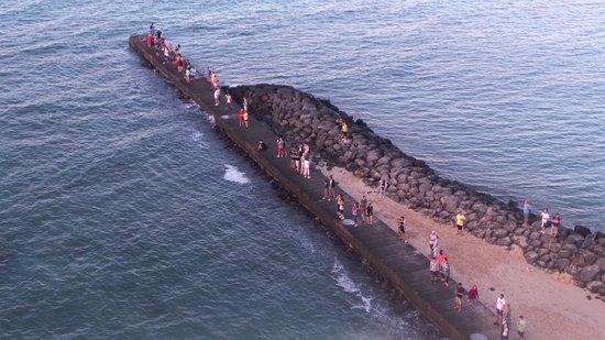 Outrigger Reef Waikiki Beach Resort: People waiting for sunrise
