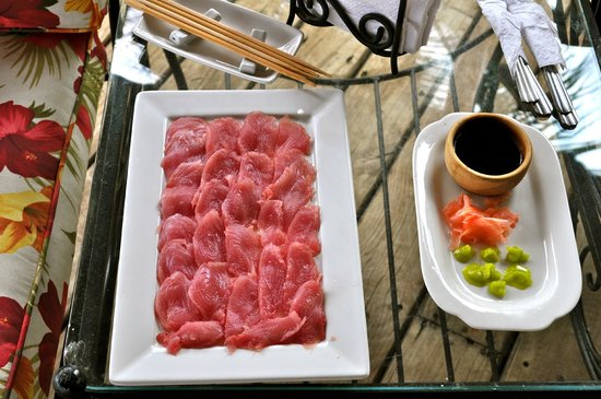 Hacienda del Mar : Tuna sashimi