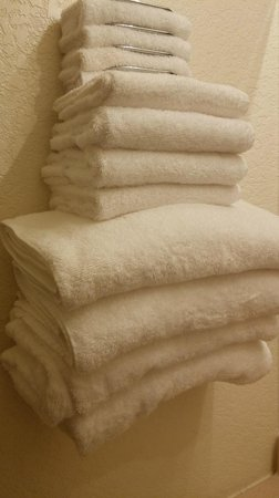 The Breeze Hotel and RV Park: Plushy towels!