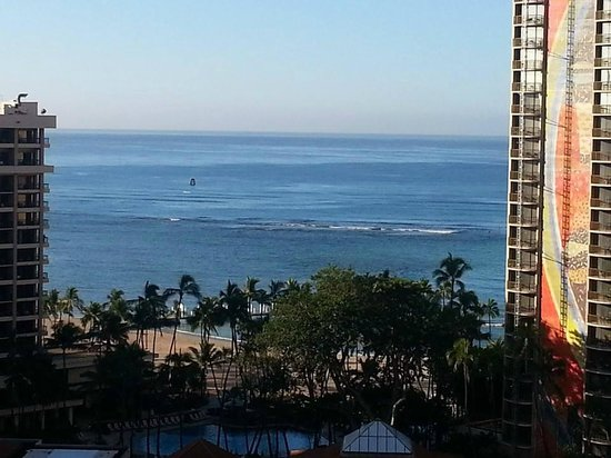 Grand Waikikian by Hilton Grand Vacations: View from balcony during the day