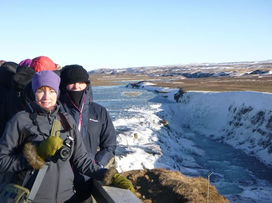 Howling wind and frigid Temps at Gullfoss