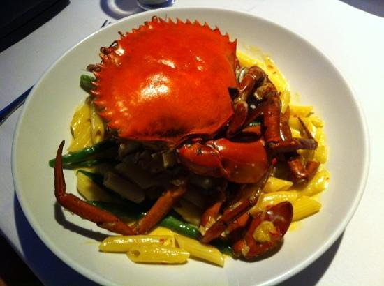 Fleurs Restaurant: Beautiful Mud crab with cream galliano sauce