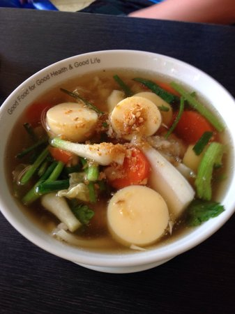 Black Canyon Coffee: Clear seafood soup (non spicy)