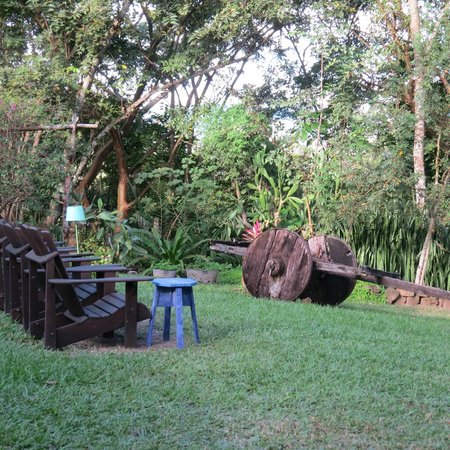 Hacienda San Lucas: A place to relax outside of the main house - perfect for coffee in the am or wine in the pm