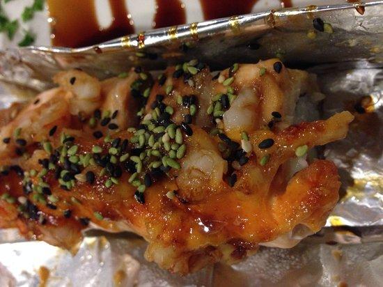 Kobu Restaurant: Rollo de salmón horneado de la degustación personal