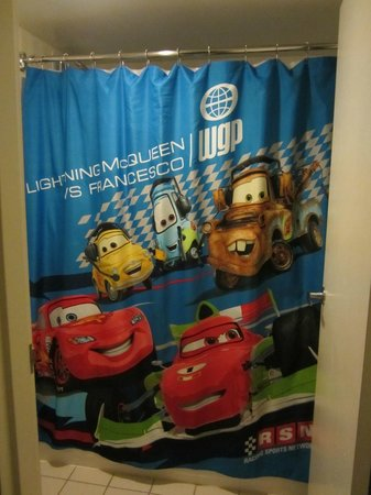 Fairfield Inn Anaheim Resort: Room 814 - Cars themed Shower Curtain
