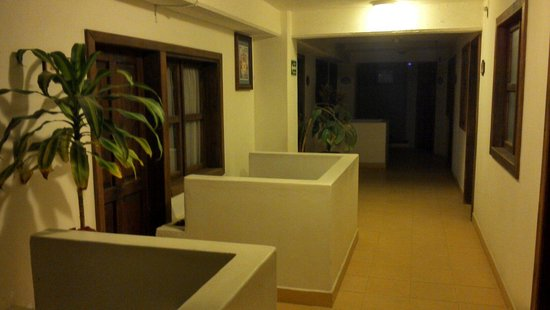 Jardines de Luz Hotel : Segundo piso. Habitaciones del fondo.
