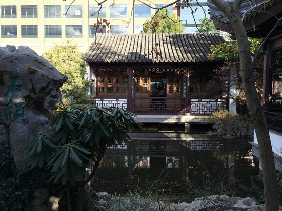 Lan Su Chinese Garden: Another insignificant high-rise